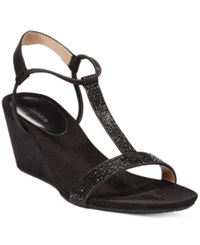 Style And Co. Mulan2 Platform Wedge Sandals Women's Shoes Black