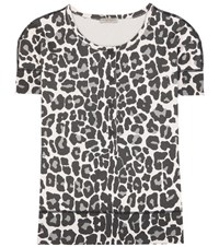 Bottega Veneta Printed Cotton Blend Top Black