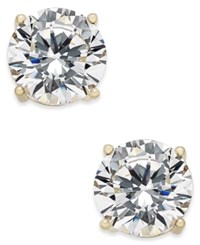 Joan Boyce Cubic Zirconia Stud Earrings Gold