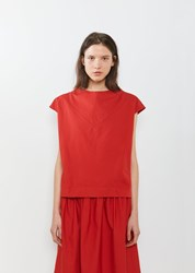 Atlantique Ascoli Mercredi Short Sleeve Blouse Red Rouge