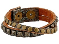 Leather Rock B328 Patina Bracelet Brown