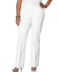 Jm Collection Woman Jm Collection Plus Size Twill Straight Leg Trousers
