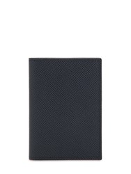 Pineider 720 Mini Leather Card Holder Blue