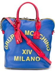 Moschino Oversized Holdall Blue