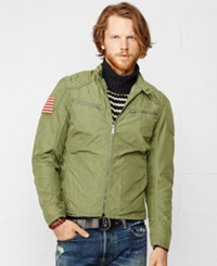 Denim And Supply Ralph Lauren Wax Nylon Moto Jacket