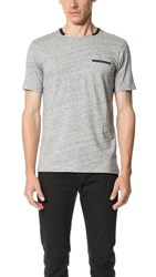 The Kooples Sport Embroidered Pocket Tee Grey