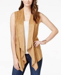 Vakko For Inc International Concepts Faux Suede Draped Vest Only At Macy's Vakko Camel