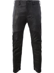 Julius Leather Slim Fit Trousers Black