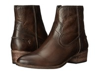 Frye Ray Seam Short Slate Washed Antique Pull Up Cowboy Boots Brown