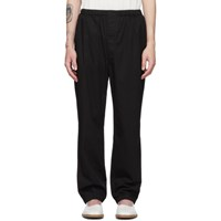 Christophe Lemaire Black Twill Elasticated Trousers
