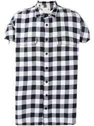 R 13 R13 Plaid Shirt Men Cotton M Black