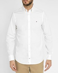 Tommy Hilfiger White Stretch Poplin Shirt
