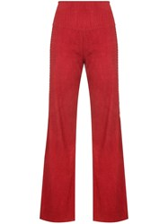 Osklen High Waisted Trousers Red