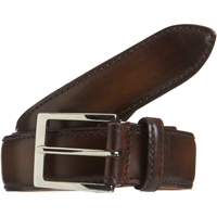 Harris Burnished Leather Belt Med.Brown