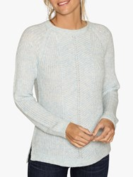 Fat Face Freya Chunky Cable Knit Jumper Clay Blue