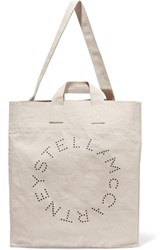 Stella Mccartney Printed Cotton Canvas Tote Cream