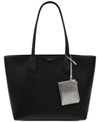 Nine West Canyon Tote Black Gunmetal Silver