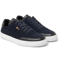 Paul Smith Earle Suede And Leather Sneakers Navy