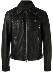 Diesel Black Gold Lagrange Jacket Men Calf Leather Viscose Brass 46 Black