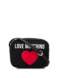 Love Moschino Heart Shoulder Bag Black