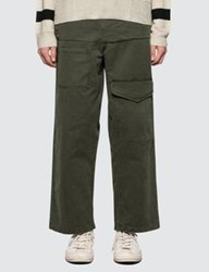 J.W.Anderson Jw Anderson Front Pockets Fold Front Cotton Trousers