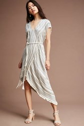 Anthropologie Vita Wrap Dress Grey