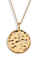 Missoma Hammered Disc Pendant Necklace Gold