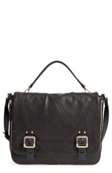 Vince Camuto Delos Leather Messenger Bag Black