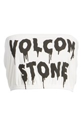 Volcom Day By Day Tube Top White