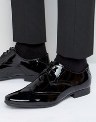 Frank Wright Oxford Shoes In Patent Leather Black
