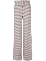 Cinq A Sept Checked Eliza Trousers Multicolour