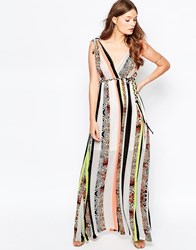 Traffic People Jungle Fever Surprise Maxi Dress In Mixed Animal Print Multi
