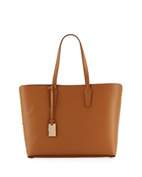 Neiman Marcus Leather Tote Bag With Rivet Hardware Camel