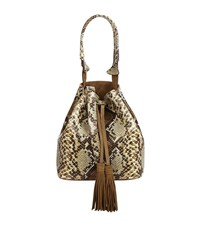 Sandro Angy Bucket Bag Female Beige