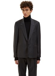 E.Tautz Single Breasted Tailored Jacket Grey