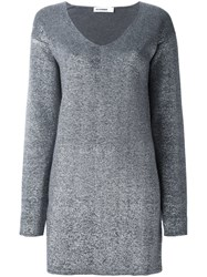 Jil Sander Long Fit Jumper Grey