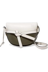 Loewe Gate Small Two Tone Leather Shoulder Bag White