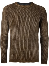 Avant Toi Faded Pullover Brown