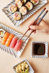 Urban Outfitters Wrapped Chopsticks Blue