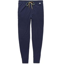 Paul Smith Tapered Cotton Jersey Sweatpants Navy