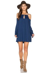 Lanston Cold Shoulder Mini Dress Blue