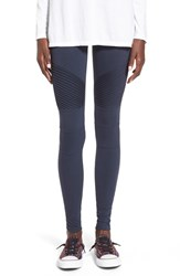 Junior Women's Bp. Pintuck Seamed Leggings Navy Eclipse
