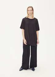 Raquel Allegra 'S Boxy Dress In Solid Black Size 0 100 Cotton