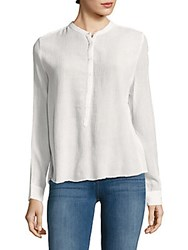 Zadig And Voltaire Solid Textured Crepe Top White