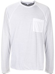 James Perse Chest Pocket Long Sleeved T Shirt 60