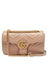 Gucci Gg Marmont Small Quilted Leather Shoulder Bag Nude