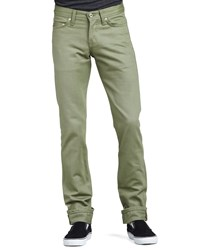Naked And Famous Weirdguy Selvedge Chino Pants Khaki Green