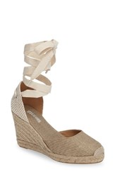 Soludos Women's Wedge Lace Up Espadrille Sandal Gold