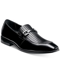 Stacy Adams Men's Forsythe Moc Toe Slip On Loafers Men's Shoes Black