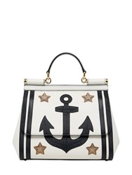 Dolce And Gabbana Medium Sicily Anchor Patches Leather Bag